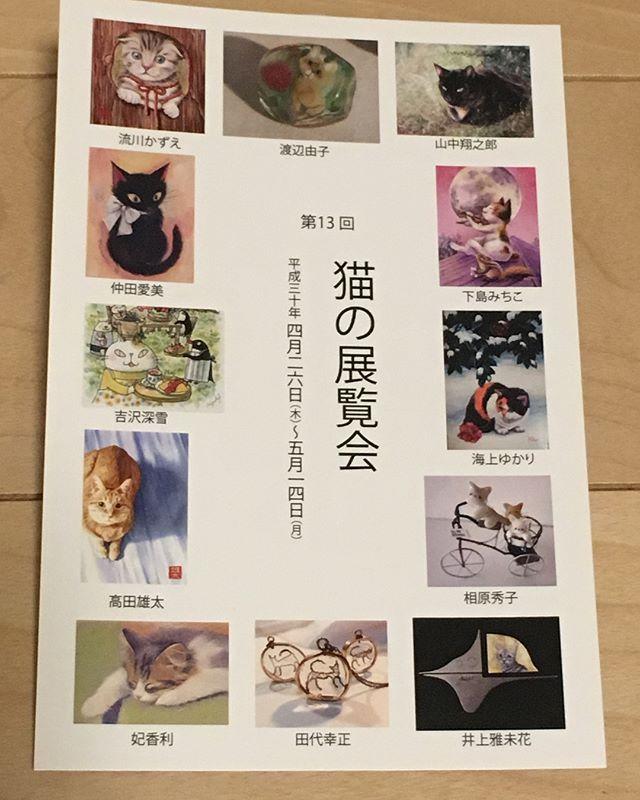 4月26日(木)〜横浜にあるArt Gallery 山手にて猫の展覧会に参加させていただきます。運が良ければ生猫に会える猫好きさん必見のギャラリーです♪#Art G allergy 山手 #猫の展覧会- from Instagram